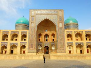 Registan Square, Mir-I-Arab Madressa (Madrasa), Samarkand, Uzbekistan